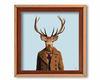 "Artprint ""Monsieur Bardo"" cardboard art print"