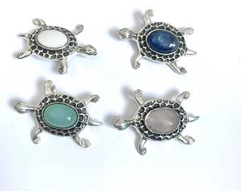 Turtle pendant,turtle necklace, silver turtle pendant,necklace pendant, turtle pendant,turtle lover gift, gemstone jewelry, turtle jewellery