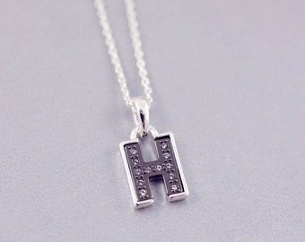 H Letter Necklace | H Initial Necklace | H | Letter Necklaces | Personalised Jewelry | Minimal Necklace | H Tiny Letter Necklace |S