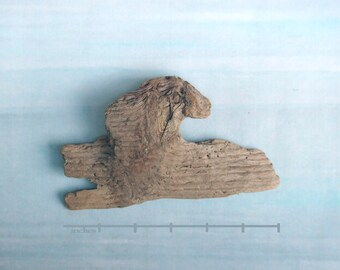 natural raw driftwood sphinx-like sculpture wood art supply 1033