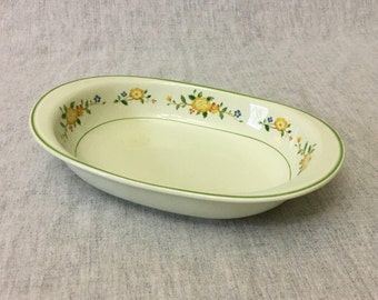 Vintage Noritake Versatone Lineage Oval Vegetable Bowl, Serving Bowl