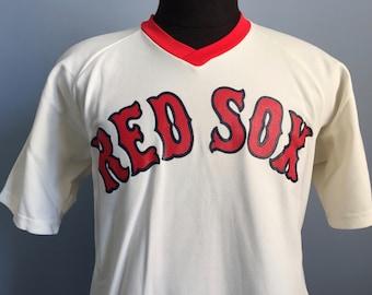 80s Vintage Boston Red Sox baseball mlb Medalist Sand-Knit jersey T-Shirt - XL X-LARGE