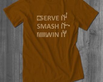 Serve It Tennis T Shirt tops and tees t-shirts t shirts| Free Shipping