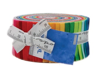 """Moda WATERCOLOR Jelly Roll 26116JR 40 2.5"""" Quilt Fabric Strips"""