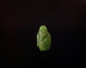 Vintage hand carved Jade mystic sage carving pendant
