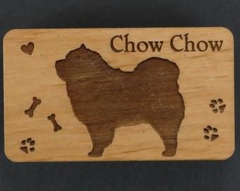 Original Design Chow Chow Wood Magnet
