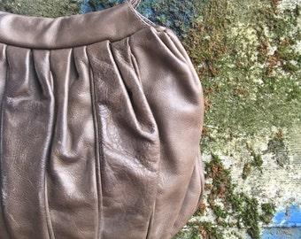Handmade vintage Italian pleated purse