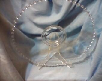 PRICE REDUCED elegant Imperial Candlewick platter , 14 1/2 inch clear glass platter, Imperial Candlewick, Imperial Candlewick platter
