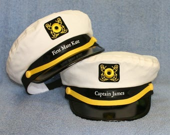 Custom sailing captains embroidered hat<br><div class=