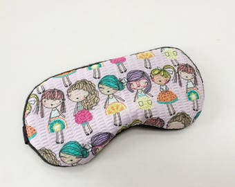 Cute Girls Sleep Mask Slumber Party Mask Eye Mask Kids Party Favors.