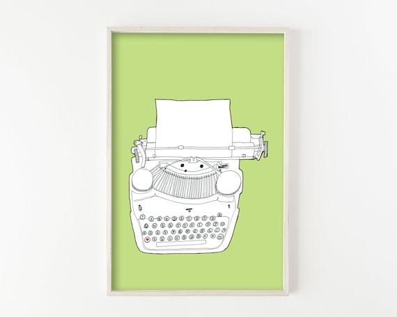 """""""Typewriter No. 5"""" - wall art print"""