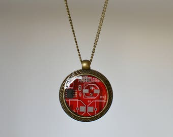 BeautIT recycled motherboard pendant jewelry | computer jewelry circuit necklace | programmer jewelry | programmer necklace | computer geek
