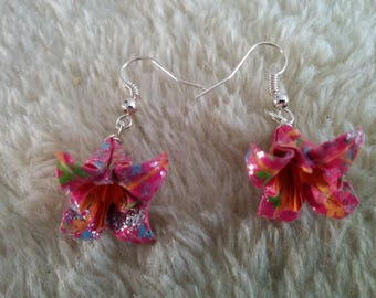 Earrings glittering Lily (C_008)
