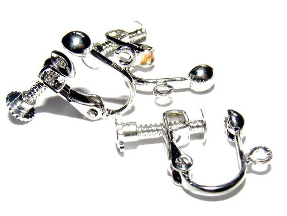 Large 17mm silver light x 2 screw Clips