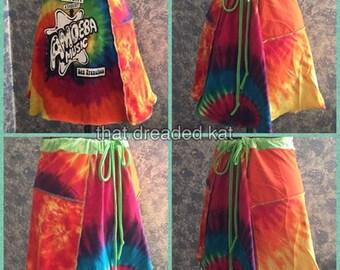 UPcycled tshirt skirt tie-dye hippie haight ashbury