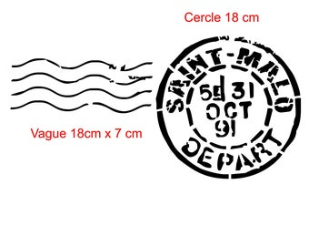 "Stencil ""stamp saint malo"" for a charm and sea"