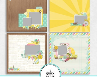 Quick pages New beginnings kit, digital scrapbook paper, scrapbook template, premade scrapbook paper, 12X12, premade pages, fast scrapbook