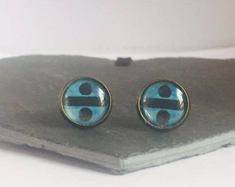 Divide - Brass Stud Earrings