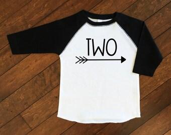 Birthday Number Shirt | Birthday Raglan | Boys Birthday Shirt | Number Shirt | Personalized Birthday Shirt | 2nd Birthday Shirt | Two Shirt