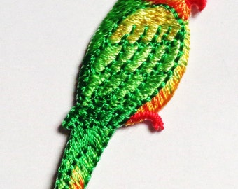 Parrot iron on patch applique