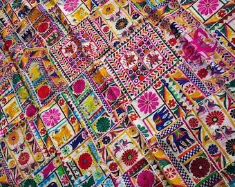 Indian patchwork quilt, Gypsy bedding, vintage Banjara tribal, bohemian tapestry, boho bedding, hippie decor,