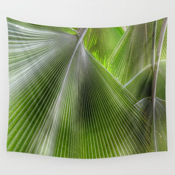 Jungle Palms, Wall Tapestry, Green, Office, Palm Tree, Beach, Fronds, Nature, Tropical, Botanical, Home Interior, Dorm, Calm,Memory,Holiday