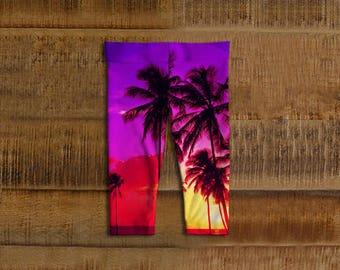 Hawaiian Sunset Kids Leggings