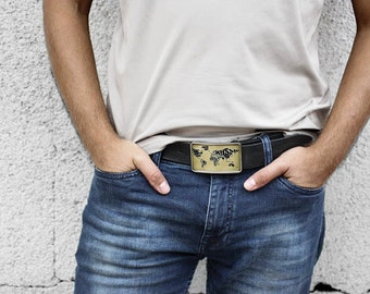 World Map Belt Buckle, Men's belt buckle