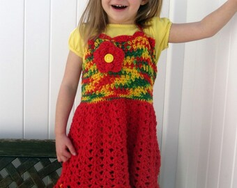 Happy Ole!  Halter Dress-Size 4T-6T