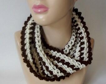 Picot Infinity Cowl ~ Crochet Pattern