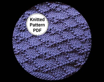 KNITTING PATTERN-Kris Kross, Dishcloth Pattern