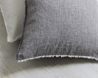 Linen Softened Pillowcase Cover Slip Stone Washed 100% Organic Linen Standard King EUR Queen AU sizes Color Variations Organic Linen Bedding