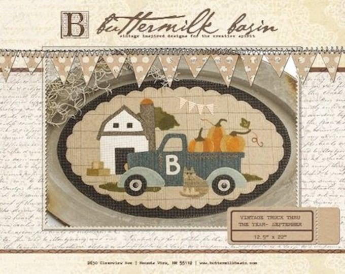 "Pattern: Vintage Truck Thru the Year - September ""Barn"" by Buttermilk Basin"