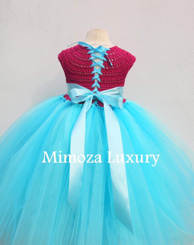 Poppy Troll Luxury Dress, Poppy troll birthday dress, poppy troll ...