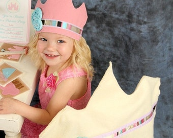 Princess Crown & Wand Pattern-How To- Princess Party Theme - INSTANT DOWNLOAD