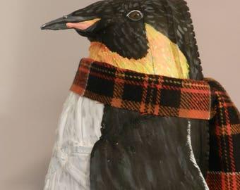 Penguin - Art Shoe Sculpture