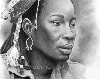 Rita Marley 13x14 Print