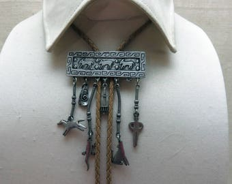J.J. Southwestern Charm Bolo Tie, Vintage, Too Cute