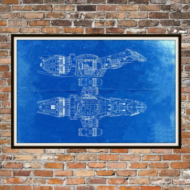 Glühwürmchen Serenity Blueprint Kunst der Firefly-Klasse