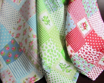 2 meters deco fabric tablecloth-patchwork-coloured, 20 cm wide