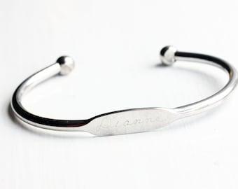Silver Cuff Name Bracelet - Dianne