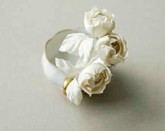 Wedding hair pins, silk flower bridal hair pins, ivory roses hair accessories