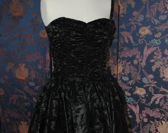 1980's black evening dress