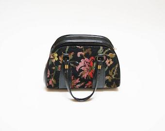 Vintage Tapestry Handbag ⎮ Vintage Floral Purse ⎮ Vintage Handmade Boho Grunge Purse
