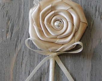 Wedding Boutonniere Grooms Boutonniere Groomsmen Boutonniere Mens Wedding Boutonniere  Boutonniere Wedding Accessories Cream Boutonniere
