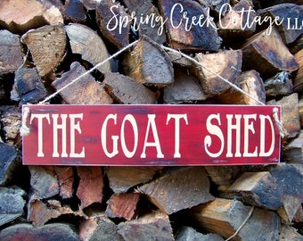 Goats, Wood Signs, The Goat Shed, Handpainted, Reclaimed, Wood, Rustic, Farmhouse Decor, Country Decor, Goats, Wood Signs