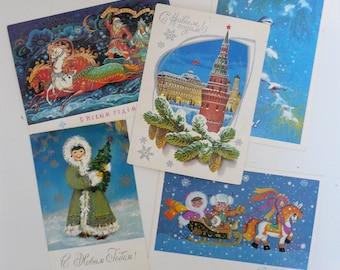 New Year postcards, vintage, USSR, clean / Новогодние открытки, винтаж, СССР, чистые
