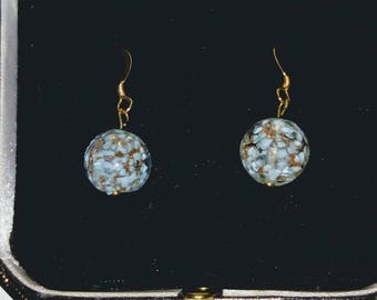 Genuine Murano Gold Vermeil Earrings