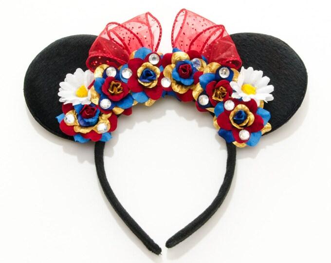 White as Snow Mouse Ears Headband