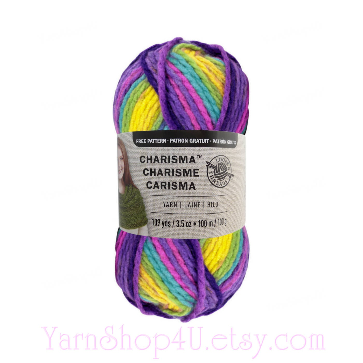 PASSION Bulky Charisma Loops And Threads Yarn. This Purple